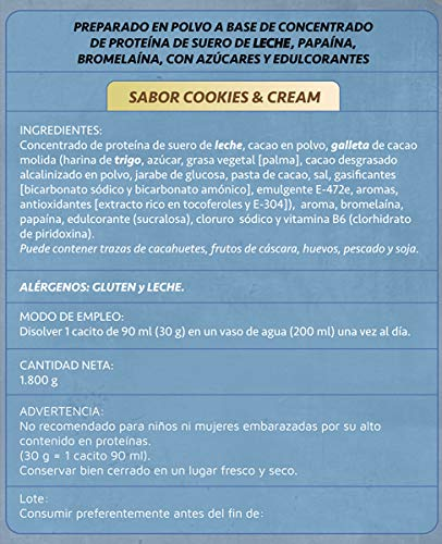 Just Podium Whey Protenium Cookies & Cream - 1800 gr: Amazon.es: Salud y cuidado personal