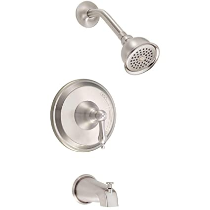 Danze D510040BN Fairmont Single-Handle Tub and Shower, Brushed ...