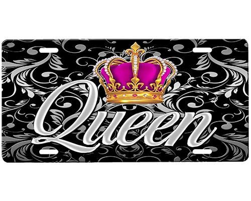 Queen (6) Personalized Aluminum License Plate Metal Sign Novelty Vanity Tag Sign Auto Car Accessories 6