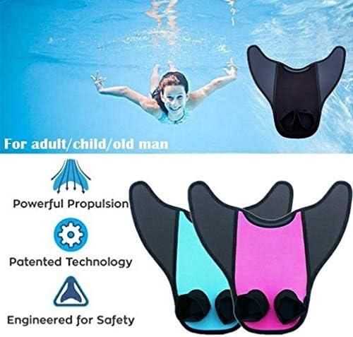 SIMEEGO Mermaid Swimming Fins Duck Flippers Rubber Short Swim Fins Universal Size Adjustable Fins Neutral Flippers Adult, Black
