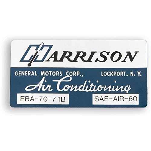 Eckler's Premier Quality Products 33-150825 Camaro Air Conditioning Evaporator Box Decal, Harrison, ()