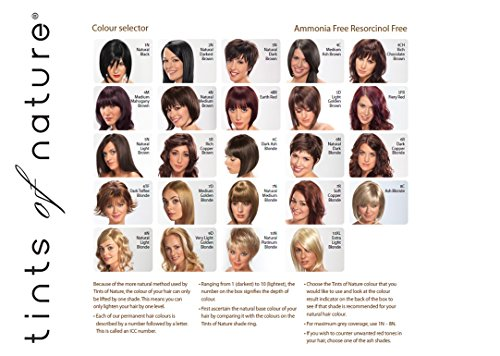 TINTS OF NATURE 4CH Rich Chocolate Brown Hair Color, 4.4 FZ