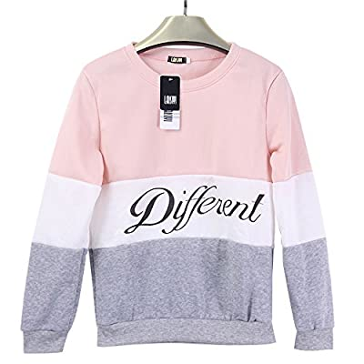 LAISIYI Spring Thin Fleece Different Letter Printed Casual Sweater Mix Color Pullover