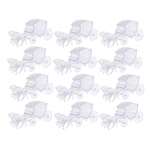 12 Pieces Crystal Horse Carriage Candy Gift Boxes Party Favor Baby Shower