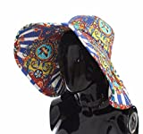 Dolce & Gabbana Multi-Color Fedora Bucket Trilby Carretto Print Wide Brim Hat 58/L