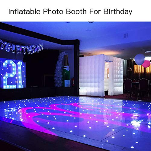 Inflatable Portable Photo Booth Backdrop - Inflatable Photobooth with Led Light Strip and Inner Air Blower Photo Booth Stand for Party, Wedding, Birthday, Halloween Decoration by AIRMAT FACTORY (Image #6)