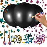 Wonash 3 Pack 36 Inch Baby Gender Reveal Balloon Boy, Girl or Twin Gender Reveal Balloons | Blue, Pink, Gold & Silver Confetti + US Flag Dart | Perfect for Gender Reveal Party Supplies