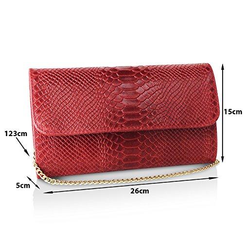 Mano Palle Marrone Clutch Tracolla Made In Casual Glamexx24 1 Da Donna Borsa Elegante A Italy Borsetta Vera ExgnYwZqF
