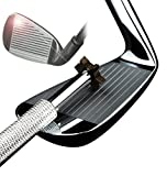 Golf Club Groove Sharpener with 6 Heads - Ideal for Optimal Backspin and Ball Control - Perfect Tool for Wedges and Utility Clubs - Silver