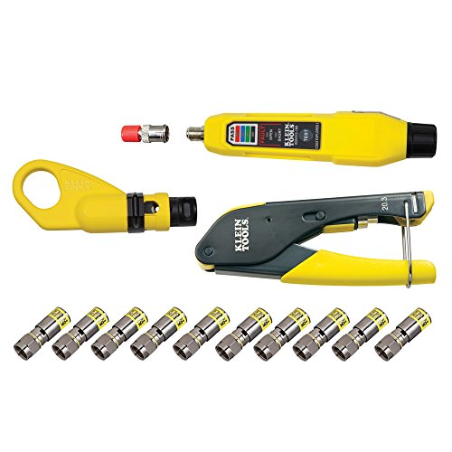 - Coaxial Cable Tools, Tester and Connectors, Crimper, Stripper, Tracer and F Connector Klein Tools VDV002-818