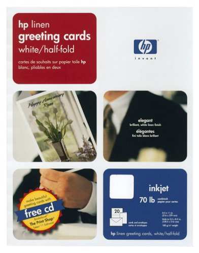 Hewlett Packard Q1788A Linen White, Half-Fold Greeting Cards