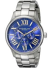 Stuhrling Original Men's 391G.03 Symphony Regent Majestic Quartz Day and Date Blue Dial Bracelet Watch