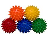Saj (sAHHHj) Ball Sleeve - The Original Mini Relaxation Massage, 5-Count Rainbow, Wellness Gift, Travel Gift, TSA Approved