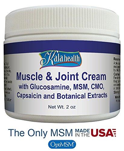 Kala Health - crème naturelle de Muscle & articulation topique - action rapide crème topique pour l'exercice ou de l'inconfort musculaire induite par l'âge - contient Glucosamine, MSM, OCM, la capsaïcine et un mélange exclusif d'extraits botaniques pu