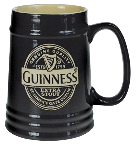 Guinness Black Ceramic Label Tankard by Guinness Official Merchandise