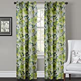 Cheap IYUEGO Contemporary Country Fresh Style Light Green Floral Grommet Top Lined Blackout Curtains Draperies With Multi Size Custom 50″ W x 63″ L (One Panel)