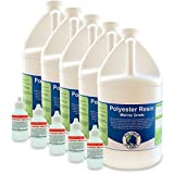 glass fiber resin - Polyester Fiberglass Laminating Resin, 5 Gallon Kit with Hardener - A Grade Marine Boat Repair