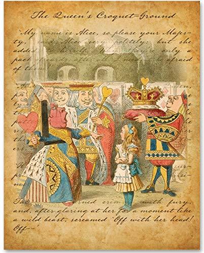 Alice in Wonderland - The Queens Croquet-Ground - 11x14 Unframed Alice in Wonderland Print