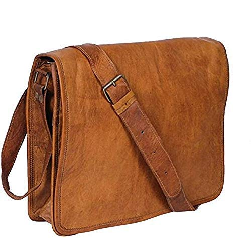 Leather Bags Now 11 Real Leather Small Full Flap Messenger Bag for Unisex daily use.