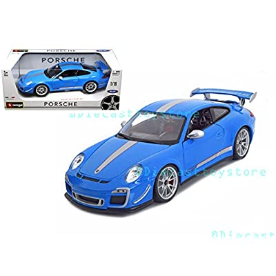 Bburago 1: 18 Porsche 911 GT3 Rs 4.0 Toy, Blue 18-11036BL: Toys & Games