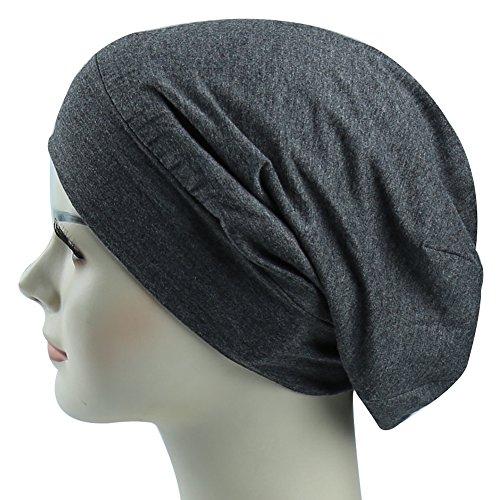 Satin Lined Cap Sleep Bonnet For Long Hair Girl Casual Slouchy Beanie (Lined Bonnet)