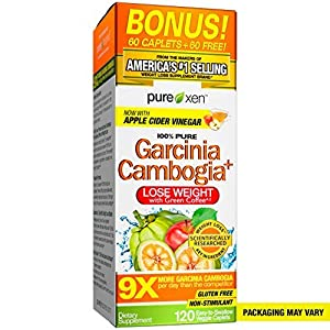 Health Shopping Garcinia Cambogia Weight Loss Pills for Women & Men | Purely Inspired 100% Pure Garcinia Cambogia | Featuring Apple…