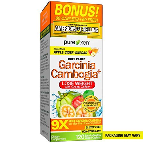 Purely Inspired 100% Pure Garcinia Cambogia Extract with HCA, Extra Strength, Weight Loss, 120 count Veggie Tablets (packaging may vary) in USA