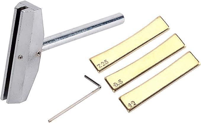 Gold SUPVOX 9pcs Fretboard Press Caul Professional Carbon Steel Guitar Parts Accessory Repair Tool Press Caul Insert for Guitar Bass