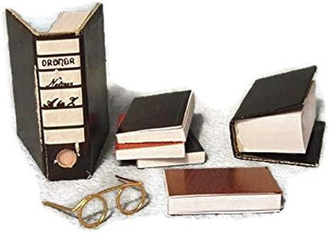 "Conjunto completo de 7 X Casa de muñecas en miniatura /""books/"" hecho a mano de escala 1:12th"