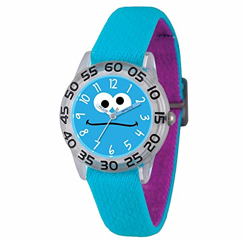 sesame-street-cookie-monster-kids-acrylic-case-blue-stretch-strap-time-teacher-watch