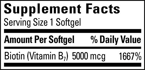 Nature Made Max Strength: Biotin (B7) 5000 mcg. Softgels Value Size 120 Ct by Nature Made (Image #3)