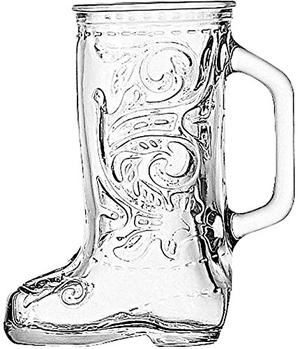 Anchor Hocking Glass Beer Boot 12.5 Ounce Mug, Set of (Das Boot Beer)