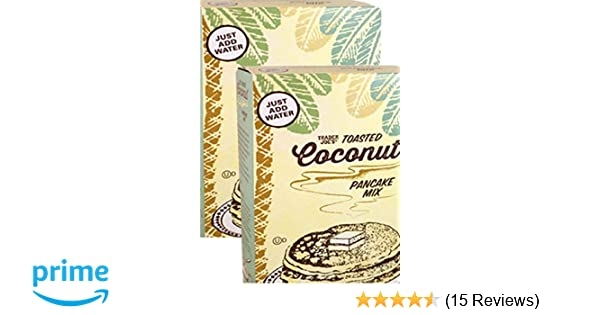 Amazon.com : Trader Joes Toasted Coconut Pancake Mix - Multi-pack (2) 1 LB 3 oz Boxes Total 38 ounces : Grocery & Gourmet Food