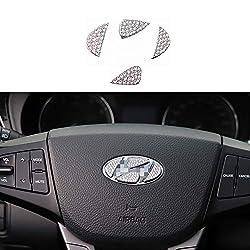 Diamond Crystal Steering Wheel Sticker for Hyundai