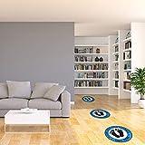 "Social Distancing Floor Decals - 12"" Round 5 Pack"