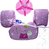 CONHENCI Swim Floaties Arm Bands Float Vest Trainer Life Jacket for Baby Toddlers (Pink)