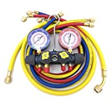 Kyпить YELLOW JACKET 49967 Titan 4 Valve Test and Charging Manifold with 60