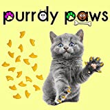 Purrdy Paws 100-Pack Soft Nail Caps For Cat Claws YELLOW MEDIUM