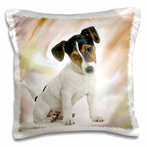3dRose pc_4236_1 Jack Russell Terrier-Pillow Case, 16 by 16