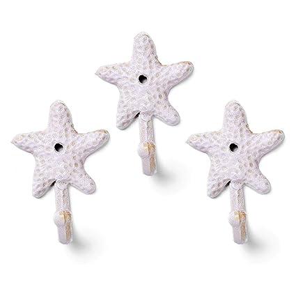 YANGMAN Perchero de Estrella de mar Percha rústico Hierro ...