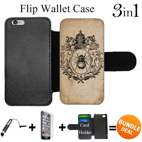 Flip Wallet Case for iPhone 6 Plus/6S Plus (Wreath Crown Bee ) with 3 Card Holders | Shock Protection | Lightweight | Includes HD Tempered Glass and Stylus Pen by - Etsy Wreath