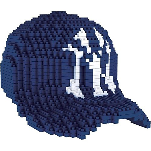 - Forever Collectibles MLB New York Yankees 3D BRXLZ Baseball Cap Building Blocks, Size 10.25, Multicolor