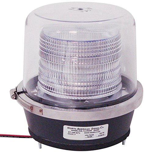 North American Signal DFS900-C 15.25 Joule, Double Flash Strobe Light, Permanent Mount, Clear