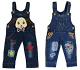 Miss U Boys Wear High Quality Soft Applique Overall Jumper Pants Romper Playsuit Denim Dungaree (BOYS DOG, 17 (2-3 Years))