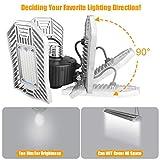 LED Garage Lights 3000K Warm White Light Shop Light 80W 8000lumens Garage Lighting Fixtures CRI85 Basement Workshop Garage Ceiling Lights Indoor Use Ordinary Version