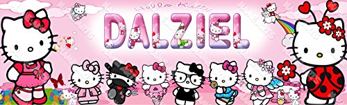 (Personalized / Customized Hello Kitty 2 Name Poster Wall Decor Door Birthday Art)
