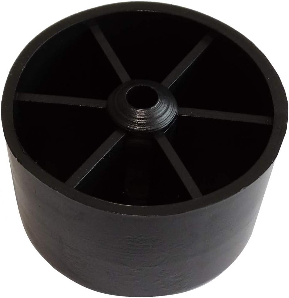 Para atornillar AERZETIX: Patas pies redondos /Ø53mm H:34mm para muebles 4 piezas Negro C42713