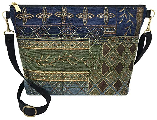 Danny K. Women's Tapestry Bag Shoulder Handbag, Large Zipper Purse Handmade in the USA ()