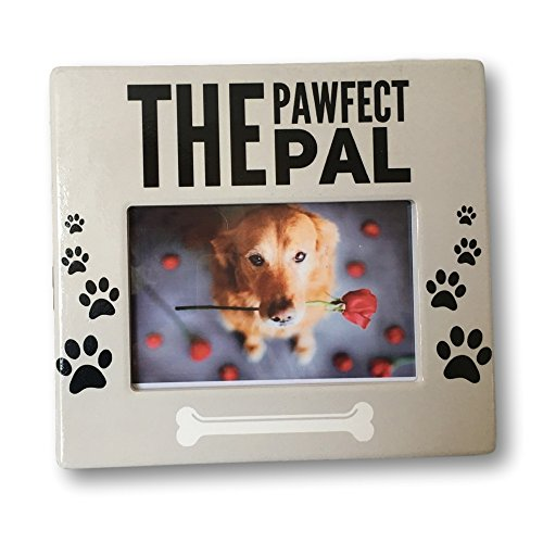 BANBERRY DESIGNS Dog Picture Frame - The Pawfect Pal Photo Plaque - 4 x 6 Inch Photograph Opening - Dog Frames Best Friend Dog Frame