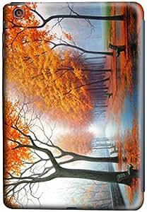 iPad mini Case Cover,Foggy-Autumn 3D Hard Shell Case for iPad Mini